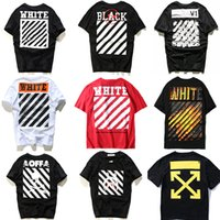 Wholesale OFF WHITETROND LIFE T Shirt Stripe Religion Jesus Arrow Young Off White Short Sleeve Summer Hot Sale Striped Abloh Virgil Off White T Shirts