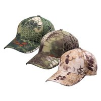 Wholesale camouflage caps hunting - Hunting Tactical Rattlesnake hat camping mens camouflage Fishing bionic Baseball cadet cap