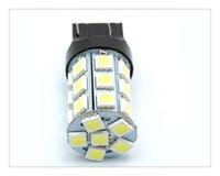 Wholesale Led 7443 Yellow - 10PCS Best Promotion T20  7443  7440  27 SMD LED Pure White Car Brake Turn Signal Stop Rear Light Bulb Lamp DC12V