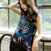 Wholesale Korean Women Sport T Shirt - The new yoga sleeveless T-shirt girl Korean edition hollowed-out mesh sports vest The woman is running a quick dry coat