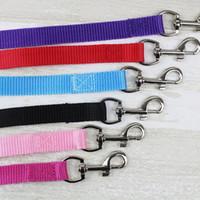 köpek tasması mavi toptan satış-Genişliği 1.5 cm Uzun 120 cm Naylon Köpek Tasmalar Pet Köpek Eğitim Sapanlar Siyah / Mavi Köpekler Kurşun Halat Kemer Tasma ZA3963