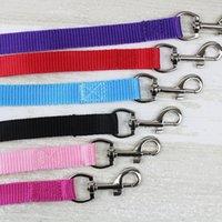 Wholesale black dog training - Width 1.5cm Long 120cm Nylon Dog Leashes Pet Puppy Training Straps Black Blue Dogs Lead Rope Belt Leash ZA3963