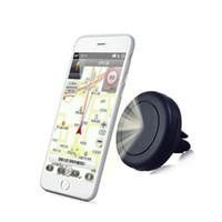 car phone holder оптовых-Магнитный кронштейн Универсальный магнитный автомобильный держатель для воздуховодов Выходное гнездо для iPhone Держатели для сотовых телефонов Samsung Бесплатная доставка