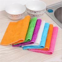 toalhas de prato mágicas venda por atacado-Pano alto eficiente do prato da cor de Microfiber, fibra de bambu que lava a toalha de prato, pano de limpeza mágico da cozinha, Wrap Rags
