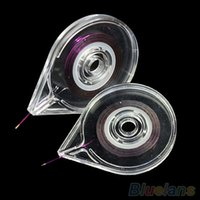 Wholesale Nail Art Using Tape - Wholesale- Nail Art Striping Tape Line Case Tool Sticker Box Holder Easy Use Design 4K3G
