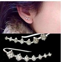 Wholesale Ear Cuffs Cz - 2017 new CZ ear cuff Beautiful crystal earring Jewelry Ear Rings