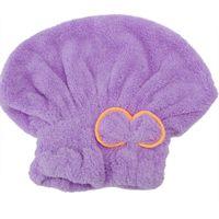 Wholesale Microfiber Hair Towel Head Wrap - Wholesale- New Womens Soft Microfiber Magic Hair Quick Dry Bath Head Wrap Hat Cap Bowknot Design Drying Towel Turban Bathroom Bathing Tool