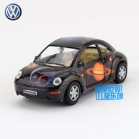 Wholesale Beetles Collection - Free Shipping 1:32 Scale Volkswagen New Beetle Education Model Classical Pull back Diecast Metal toy car For Collection or Gift