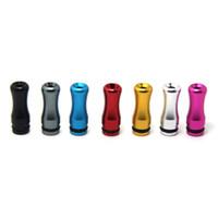 Wholesale Ego Dct V2 - 510 Aluminum Metal Drip Tip for EGO E Cigarette Vivi Nova DCT V2 Metal Short Mouthpiece Tips