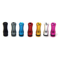 Wholesale Ego V2 Nova - 510 Aluminum Metal Drip Tip for EGO E Cigarette Vivi Nova DCT V2 Metal Short Mouthpiece Tips