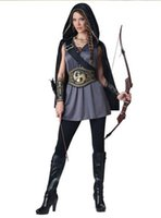 Wholesale Robin Costume Women - Halloween costume cosplay masquerade adult children male and female Robin Hood clothing Green Arrow cosplay dress up
