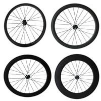 vorderes scheibenrad großhandel-Scheibenbremse 24mm 38mm 50mm 60mm 88mm Carbon Cyclocross Fahrradräder Nur Vorderrad Cyclocross Fahrradrad
