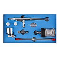 Wholesale Air Brush Spray Paint Gun - SP134T Gravity Feed Dual Action Trigger Airbrush Kit 0.2mm 0.3mm 0.5mm Needle Air Brush Spray Gun Paint Art