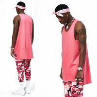 Wholesale Plain Fashion Vest - High quality 2017 new hot loose vest o-neck tank tops clothes plain plus men women fashion Casual Vest Cotton Free Shipping