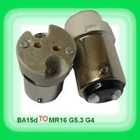 adaptateur de lampe achat en gros de-Livraison gratuite Ba15D tour mR16-GU5.3 G4 support de douille en céramique adaptateur adaptateur