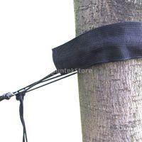 Wholesale Hammock Tree Straps - Wholesale- 250kg Black Adjustable High Strength Hanging Hammock Tree Sling Straps