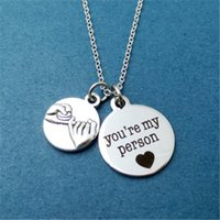 Wholesale promise day gifts resale online - 12pcs Pinky Promise You re my person Grey s Anatomy Necklace Greys Anatomy Promis Friendship