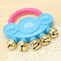 Wholesale Musical Beautiful - Wholesale- Beautiful Design Baby Kids Hand Shaking Bells Instrument Rattle Handbell Musical Educational Toy