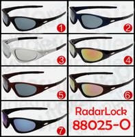 Wholesale wholesale men sports jackets - 2017 summer new fashion Unisex sports Sunglasses brands Straight Jacket Angling Specific Sun glass RadarLock 88025 7 colors with cases