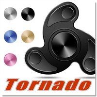 black tornado - Tornado Fidget Spinner Finger Toy Alloy EDC Hand Spinner for Autism and ADHD Rotation Long Time Stress Relief Toys with retail package