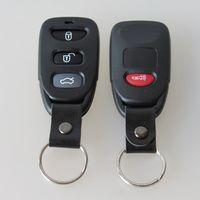 Wholesale Hyundai Tucson Key - New 3+1 button replacement key blank FOB remote keyless entry shell key case for Hyunda Elentra Tucson Santa Fe 20pcs lot