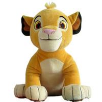 Wholesale Plush Soft Lion - New Good Quality Cute 1pcs Sitting High 26cm Simba The Lion King Plush Toys , Simba Soft Stuffed Animals doll For Children Gifts