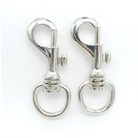 Wholesale Hanger Clasp - Solid brass dog swivel snap hook 1312# 36.5g round shape zinc alloy lobster clasps supplier