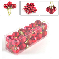 Wholesale C Decor - 24pcs  lot Christmas Tree Decor Ball Bauble Hanging Xmas Party Ornament Decorations for Home Party Festival Suppllies 0708041