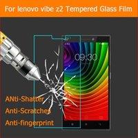 lenovo vibe protection оптовых-Оптовая продажа-для Lenovo vibe Z2 закаленное стекло оригинальный 9 H защитная пленка взрывозащищенный протектор экрана для Lenovo vibe Z2 5.5 дюймов