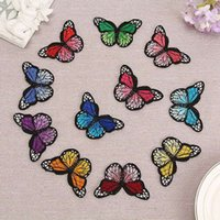 Wholesale Embroidery Butterfly Patch - 10 Embroidery Butterfly Sew On Patch Badge Embroidered Fabric Applique DIY