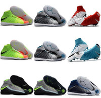 Wholesale Leather Indoor Soccer Shoes - Hot Cheap Hypervenom Phantom 3 III DF Football Boots Hypervenoms 2 II JR FG IC TF Neymar Soccer Shoes Indoor Soccer Turf SIZE 39-46