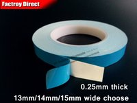 Wholesale Heat Sink Tape - Wholesale- 2016 13mm 14mm 15mm wide choose * 20M Double Sided Thermal Conductive FiberGlass Tape for LED Strip Light, Chipset IC, Heat Sink