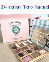 Wholesale Eyeshadow 24 Colors - NEW! Makeup Eye Shadow Faced The Chocolatier Christmas Limited Edition too high quality 24 colors eyeshadow DHL free shipping