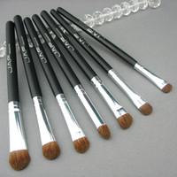 Wholesale Hair Makeup Wholesalers - Retail JAF Classic 7pcs Brushes for Makeup 100% Natural Animal Horse Pony Hair Eye Makeup Brush Set
