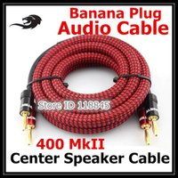 Wholesale Banana Plug Hifi - Freeshipping 3m 5m @ 2 Banana to 2 Banana Plug Audiophile Speaker Cable Speaker Home Theater hifi Speaker Cable cords