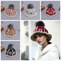 Wholesale Korean Style Beanies - winter adult children's hat baby hats Korean style lambskin knitted hat ladies basin cap Fisherman's hat YYA524