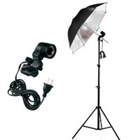 Wholesale Photo Socket - Photo Studio Lighting Kit With 1*2.2m Light Stand +1*85cm Softlight Umbrella +1*E27 lamp bulb Swivel Light Socket