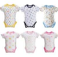 Wholesale Toddlers Clothing Wholesale Price - Factory Price Baby Romper Onesies Summer Short Sleeve Kids Toddler Romper Jumpsuit Infant Triangle 100% Cotton Baby Clothing