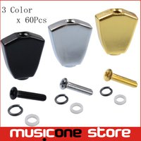 Wholesale Replacement Guitar Knobs - 6Pcs Metal Guitar Tuning Pegs keys Tuners Machine Heads replacement Buttons knobs Handle Black Gold Chrome