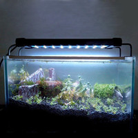 Acuario de luz Fish Tank Epistar SMD llevó luz de la lámpara 2 modo blanco + Blue Marine Aquarium Led Lighting