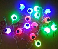 Multicolor Halloween LEDs Eyeball String Light Батарея Power String Light Lamp для вечеринки на Хэллоуин