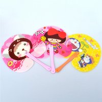 Wholesale Antique Japanese Box - High quality cartoon children fan lovely peach heart plastic fan for men and women summer cool daily fan a variety of types