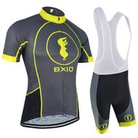 Wholesale Cycling Jersey Gray - 2017 BXIO Brand New Item Cycling Jerseys Set MTB Bikes Clothes Summer Shorts Sleeve Bicycle Clothes Gray Bike Jersey Ropa Ciclismo BX-144