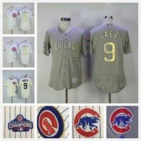 Wholesale Good Nice New - NEW Men Chicago Cubs 9 Javier Baez baseball Jerseys 2017 Gold Program Good Quality Nice Color Blue White Cream Grey Free Shipping