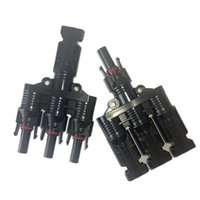 Wholesale Solar Electrical Panels - 20 pairs 3 to 1 MC4 branch solar connector, IP67 waterproof PV branch plug for pv panels