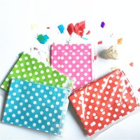Wholesale dot wrapping paper resale online - 25Pcs set Food Grease Proof Paper Bag polka dot spotty Kids Candy Buffet Favor Gift Wedding Birthday Party Supplies