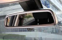 Wholesale Car Mirror Chrome Stickers - Car Chrome ABS Styling Rearview Mirror Decoration Frame Decals For Land Rover Range Rover Sport Auto Interior Accessories