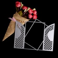 Wholesale Crafts Invitations - Metal cutting dies 2pc lace door window for card invitation Scrapbook album paper craft embossing stencils steel die cut