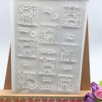 Wholesale Bear Photo Album - Wholesale- Baby Bear Frame Designs Transparent Clear Stamp DIY Silicone Seals Scrapbooking Card Making Photo Album Decoration Accessories