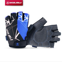 Wholesale Sports Protective Fitness Glove - 2017 Winmax Cycling Gloves 3 Colors Short fitness Gloves Half Finger Camping Hiking Bicycle Gloves Cycling Protective Gear Sports Outdoors